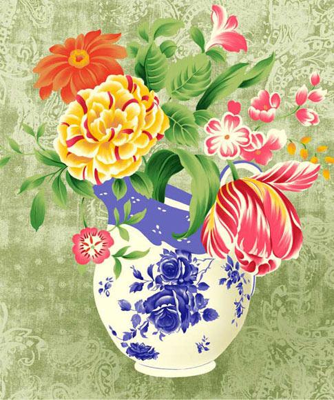 Картинка гнома с цветами